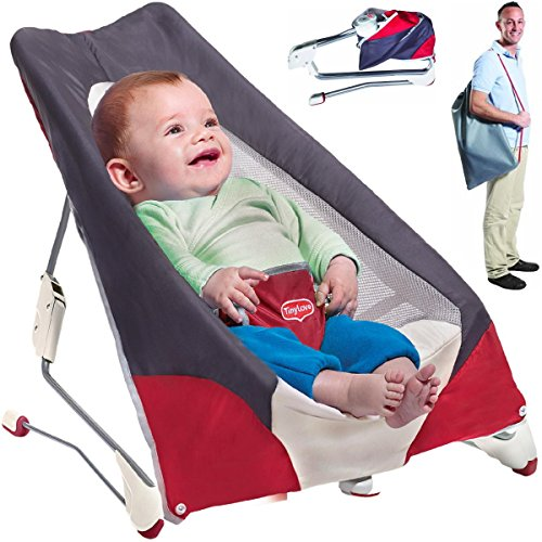 Babywippe faltbar transportabel Tiny Love Balance Bouncer Soft-Design Take Along Babyschaukel (Bouncer Faltbar)