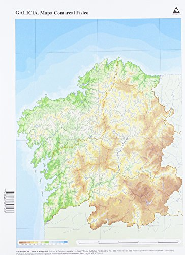 Mapa físico Galicia Comarcal (Mapas mudos)