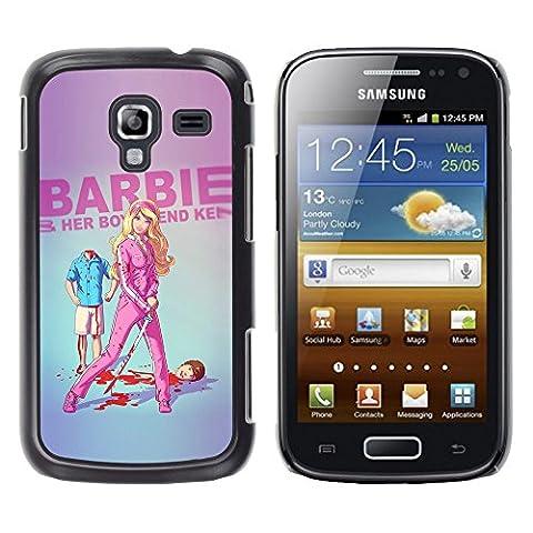 GooooStore/Housse Etui Cas Coque - Doll Blonde Thin Move Uma Parody Sword - Samsung Galaxy Ace 2 I8160 Ace II X S7560M