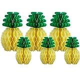 6 Stück Papier Ananas Dekoration Tissue Ananas Party Supplies Tischdekoration für Luau Party Hawaiian Theme Hochzeit Haus Dekor