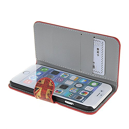 MOONCASE Meteor Coque en Cuir Portefeuille Housse de Protection Étui à rabat Case pour Apple iPhone 6 Plus A14354
