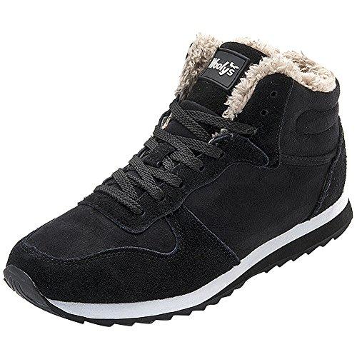 wealsex Basket Fourré Chaude Sneakers Suédé Hiver Confort Chaussure Casual Hiver Sport Running Femme Homme Unisexe