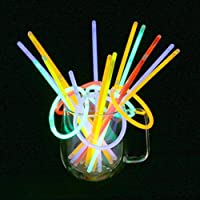 Vicloon 100 Pcs Barras Luminosas,Pulseras Fluorescentes Tubos Luminosos,Pulseras Luminosas para Carnaval Festividad Fiestas Disfraces de Vicloon