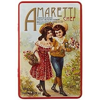 CHEF D'ITALIA Crunchy Amaretti in Tin, Pack of 3