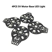 4PCS 4XWS2812B 5V Motor Base LED Light Lamp Compatible Naze32 F3 CC3D Flight Controller for FPV Racing RC Drone Quadcopter by LITEBEE by LITEBEE