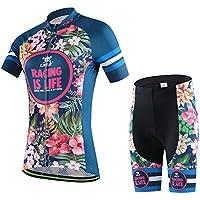Ateid Maillot de Ciclismo y Pantalón Corto con Tirantes para Mujer, Celine XXL