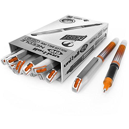 Uni-Ball ub-187s penna roller-0.7mm Needle Point-Confezione da 12-arancione