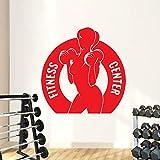 Kreative GYM Fitness Center Frau Hantel Pvc Vinyl Wandaufkleber Schlafzimmer Kindergarten...