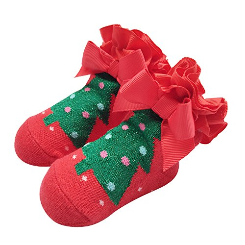 Sanlutoz Kleinkind Baby Junge Mädchen-Weihnachtssocken Geschenke Sankt Neugeborene Säuglingssocke Halloween (0-12 Monate, SOCKAD006) (Weiche Fuzzy-socken Gestreifte)