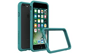 RhinoShield Bumper Case FOR IPHONE 8 Plus/IPHONE 7 Plus [CrashGuard] | Shock Absorbent Slim Design Protective Cover [3.5 M / 11ft Drop Protection] - Teal Blue