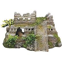 Nobby Aqua adornos 28190 Acuario Decoración Maya ruinas con plantas 217 ...