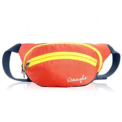 Outdoor peak NYLON Herren Damen Fahrrad tragbaren Taschen Messenger Bag Hüfttasche Gürteltasche Bauchtasche (rot) orange