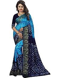 Regent-E Fashion Cotton Silk Saree With Blouse Piece (R19.4_Blue_Free Size)