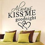 Huaduo Wandaufkleber Kiss Me Sticker Love Englisch Schlafzimmer Wohnzimmer Dekoration
