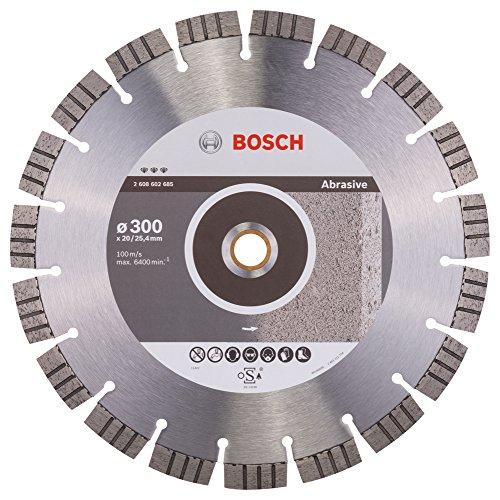 BOSCH 2 608 602 685  - DISCO DE CORTE DE DIAMANTE BEST FOR ABRASIVE - 300 X 20 00+25 40 X 2 8 X 15 MM (PACK DE 1)
