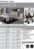 CAVADORE Eckbank links CHARISSE / Küchen-Eckbank mit langem Schenkel links / Gepolsterte Kunstleder-Eckbank mit Rückenlehne in weiß / Innenmaß: 140 x 95 cm / 194 x 149 x 54 x 83 cm (B x B x T x H) Vergleich