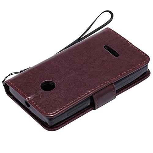 Nokia Lumia N435 Case, Embossing gepresst Blumen Katze und Baum Muster Solid Color PU-Leder Tasche weichen Silikon-Cover Flip-Stand Geldbörse mit Lanyard für Nokia N435 ( Color : 13 , Size : Nokia N43 10