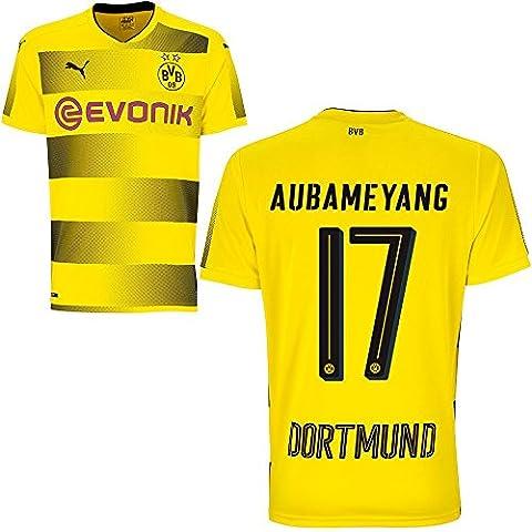 Puma BVB Borussia Dortmund Home Trikot 2017 2018 Heimtrikot mit Spieler Name Farbe Aubameyang, Größe