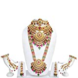 Lucky Jewellery Rani and Green Gold Plat...