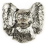 PAPILLON -FACE Made in U.K Artistic Style Dog Clutch Lapel Pin Collection by DOG ARTS JP