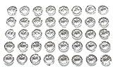 80x selbstklebende rund klar Diamant Strass Acryl Kristalle Stick auf Gems für Karte machen, Handwerk, Hochzeit Einladungen