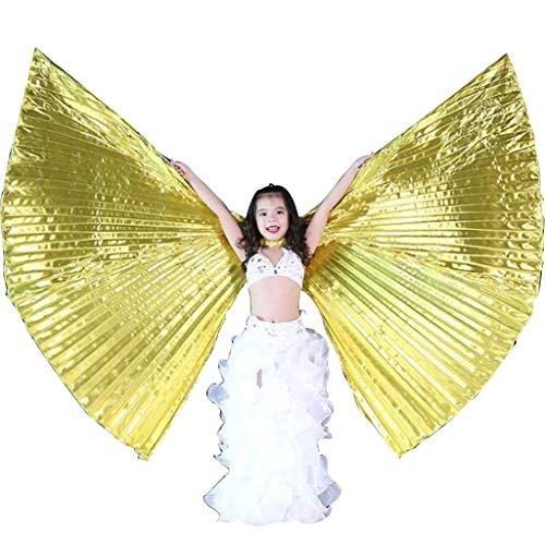 KiyomiQvQ Faschingskostüme Kinder Schmetterling Kostüm Kinder fasching Schmetterling Kostüm mädchen Flügel kinder Bauchtanz Isis Wings mit Sticks für Kinder Bauchtanz Kostüm Engelsflügel