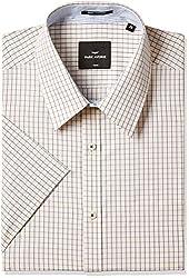 Park Avenue Mens Formal Shirt (8907575436291_PMSB09371-F4_44_Medium Fawn)