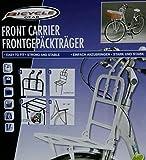 wohnen-freizeit Front-Gepäckträger in weiss für Fahrräder mit 24