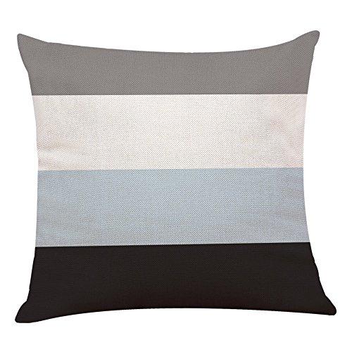 Malloom Simple géométrique carré taie d'oreiller Couvre Couvre décor à la Maison (45_x_45_cm, 1-D)