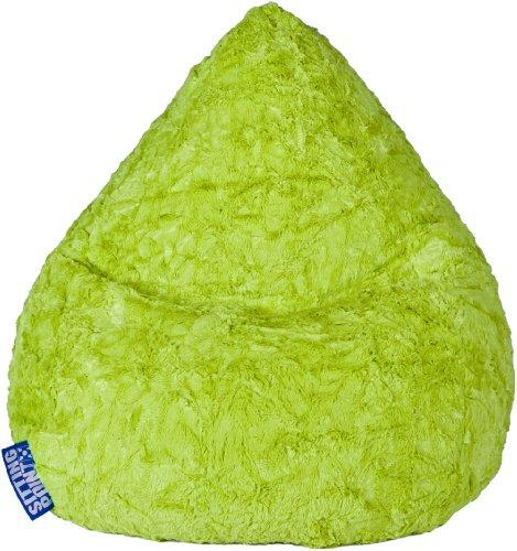MAGMA Sitzsack Fluffy L grün