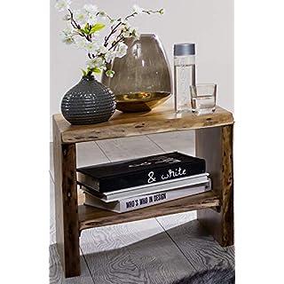 Main Möbel Alles griffbereit mit dem Nachttisch 45cm 'Dakar' Akazie massiv lackiert Beistelltisch