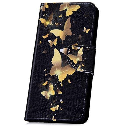 Surakey Coque Sony Xperia L1 étui à Rabat en Cuir, Créatif Dragonne Rétro  Motif Cuir PU Portefeuille Housse Etui Folio Flip Case Cover Wallet Coque