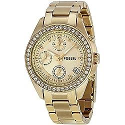 Fossil Reloj Análogo clásico para Mujer de Cuarzo con Correa en Acero Inoxidable ES2683