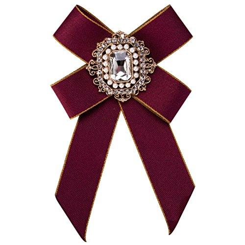 WKAIJCJ Brooch Female Bow Tie Pin Accessories Bowknot Fashion Individuality 9.5 * 15.2cm