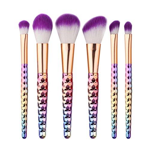 Honestyi Brosse de maquillage cosmétique 6PCS Brosse à paupières (Multicolore)
