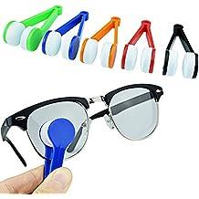 perfectii 5pcs Mini microfibra gafas limpiador, Mini limpiador de gafas Cleaner Pincel de limpieza Tool