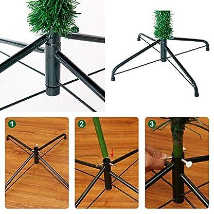 LARS360-Knstlicher-Weihnachtsbaum-Christbaum-Tannenbaum-inkl-Metallstnder-Knstliche-Tanne-mit-Klappsystem-Fr-Aussen-Weihnachtsdeko-Innen-Weihnachten-Dekoration-Innen
