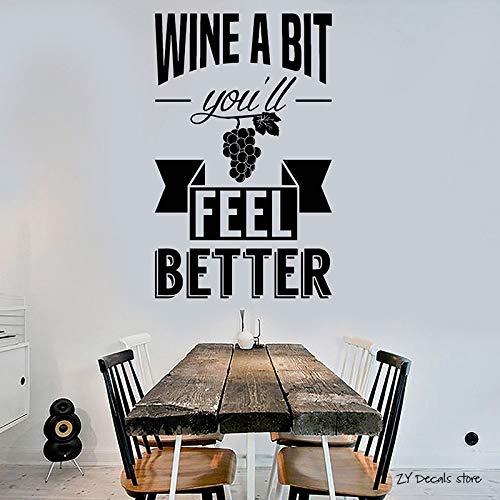 yiyiyaya Wein Zitat Wandtattoos Alkohol Drink Bar Restaurant Aufkleber Für Geschäfte Removbale Kunstwandhauptdekoration Tapete 42 * 67 cm