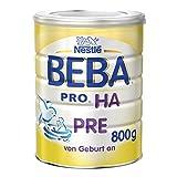 Nestlé Beba Pro HA Pre Hypoallergene Säuglings-Anfangsnahrung, hydrolisierte und hypoallergene Baby-Nahrung, von Geburt an, 1er Pack (1 x 800 g)