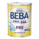 Nestlé BEBA PRO HA PRE Hypoallergene Säuglings-Anfangsnahrung, hydrolisierte & hypoallergene Baby-Nahrung, von Geburt an, 1er Pack (1 x 800 g)