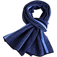 Hombres de invierno de los hombres de negocios de espesor calor engrosamiento bufanda bufanda bufanda termica,Azul