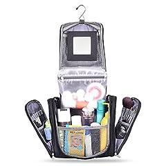 Idea Regalo - Beauty Case Viaggio - Beauty Case Grande Capacità Impermeabile, con Specchio Staccabile + Tasca Trasparente Impermeabile, Multe Tasche Beauty Case Borsa Toilette Organizer Viaggio per Donna e Uomo
