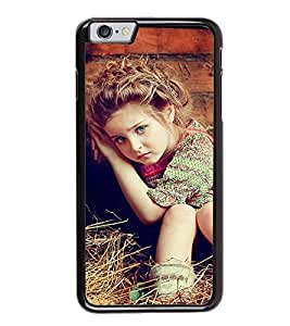 Fuson Premium 2D Back Case Cover Cute Baby on grass With Multi Background Degined For Apple iPhone 6 Plus