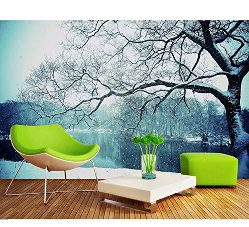 Mkkwp 3D Wallpaper Fantasy Schneeflocke Landschaft Tapete 3D Wohnzimmer Sofa Schlafzimmer Hintergrund Wandbilder Tapete-250Cmx175Cm
