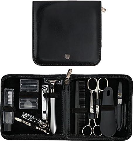TROIS EPÉES | Kit / set / ensemble / trousse de manicure – manucure – pédicure – beauty / beaute – soins des ongles / personnels / mains / pieds | 12 pièces | marque de qualité (633514)