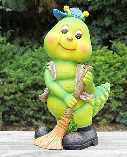 Design Raupe 50016-1 Zwerg Deko Garten Gartenzwerg Figuren Dekoration
