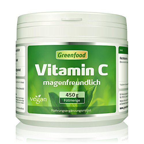Vitamin C magenfreundlich, 450 g Pulver, gepuffert