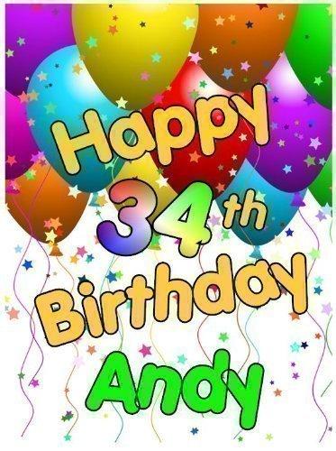 Geburtstags Ballons 10 X 7.5 cm Rechteckig (A4) Personalisiert Essbare Zuckerguss Dekoration Bitte Senden Sie Uns Namen über'
