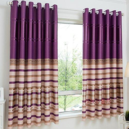 HZH-HZH-Das Wohnzimmer Schlafzimmer Vorhang Vorhang Schattierung kurz Pastorale Schattierung Piaochuang (2 Stück), 2 x 2 Höhe, P