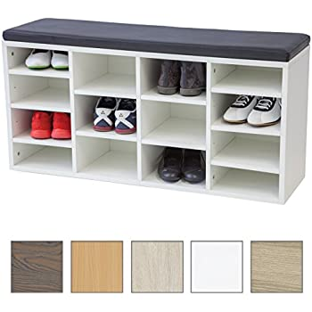 albatros shoe cabinet with seat cushion vincent white. Black Bedroom Furniture Sets. Home Design Ideas